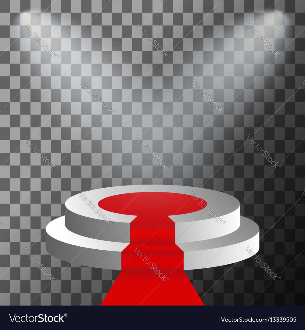 3d stage podium illuminated vector image
