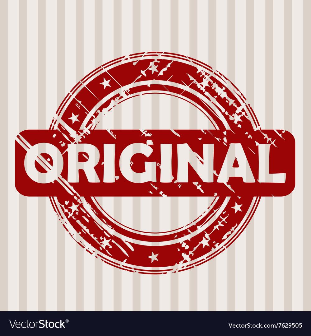 Grunge rubber stamp with ORIGINAL