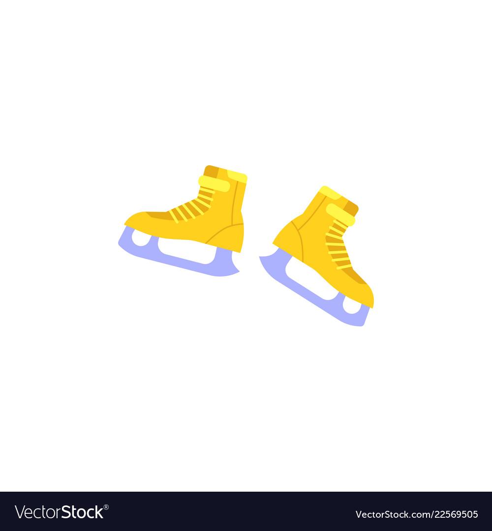 Ice-skates with snowflake print icon