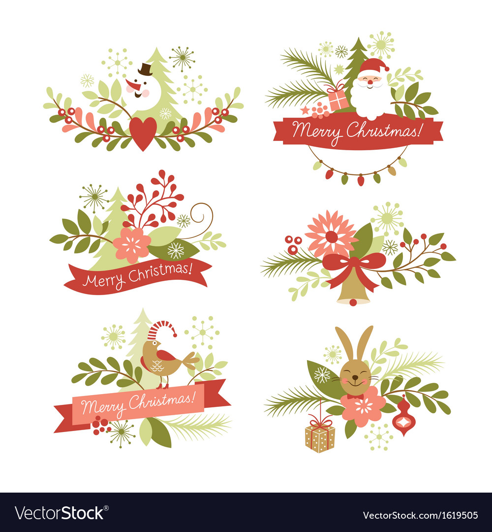 Christmas Graphics Free.Set Of Christmas Graphic Elements