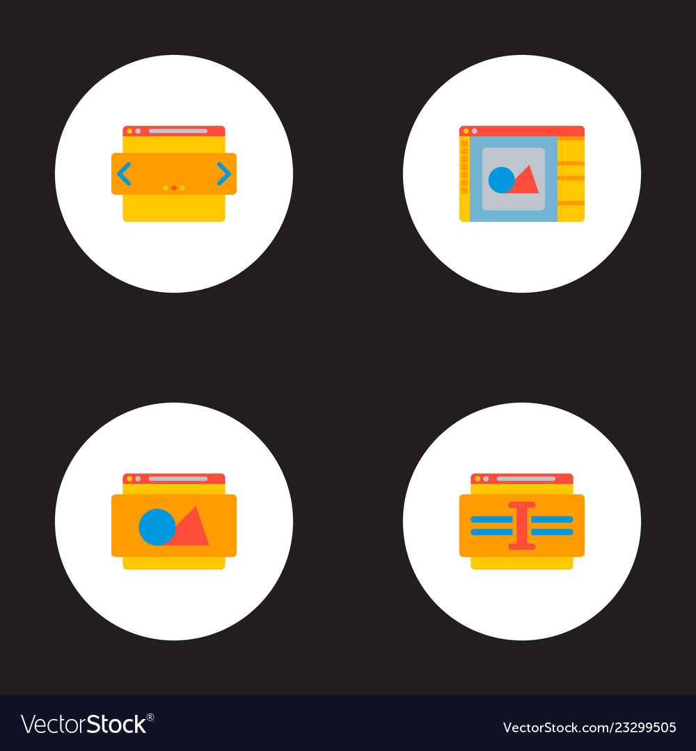 Set of development icons flat style symbols with