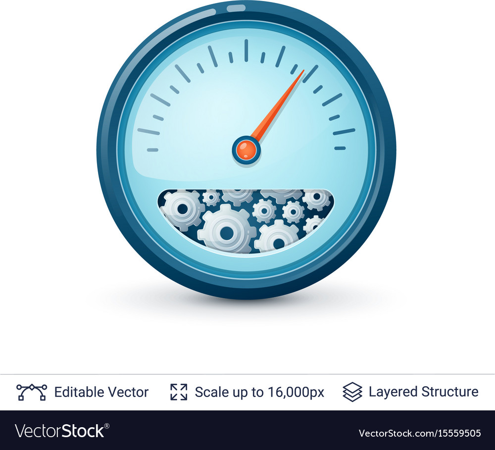 Speedometer with gears