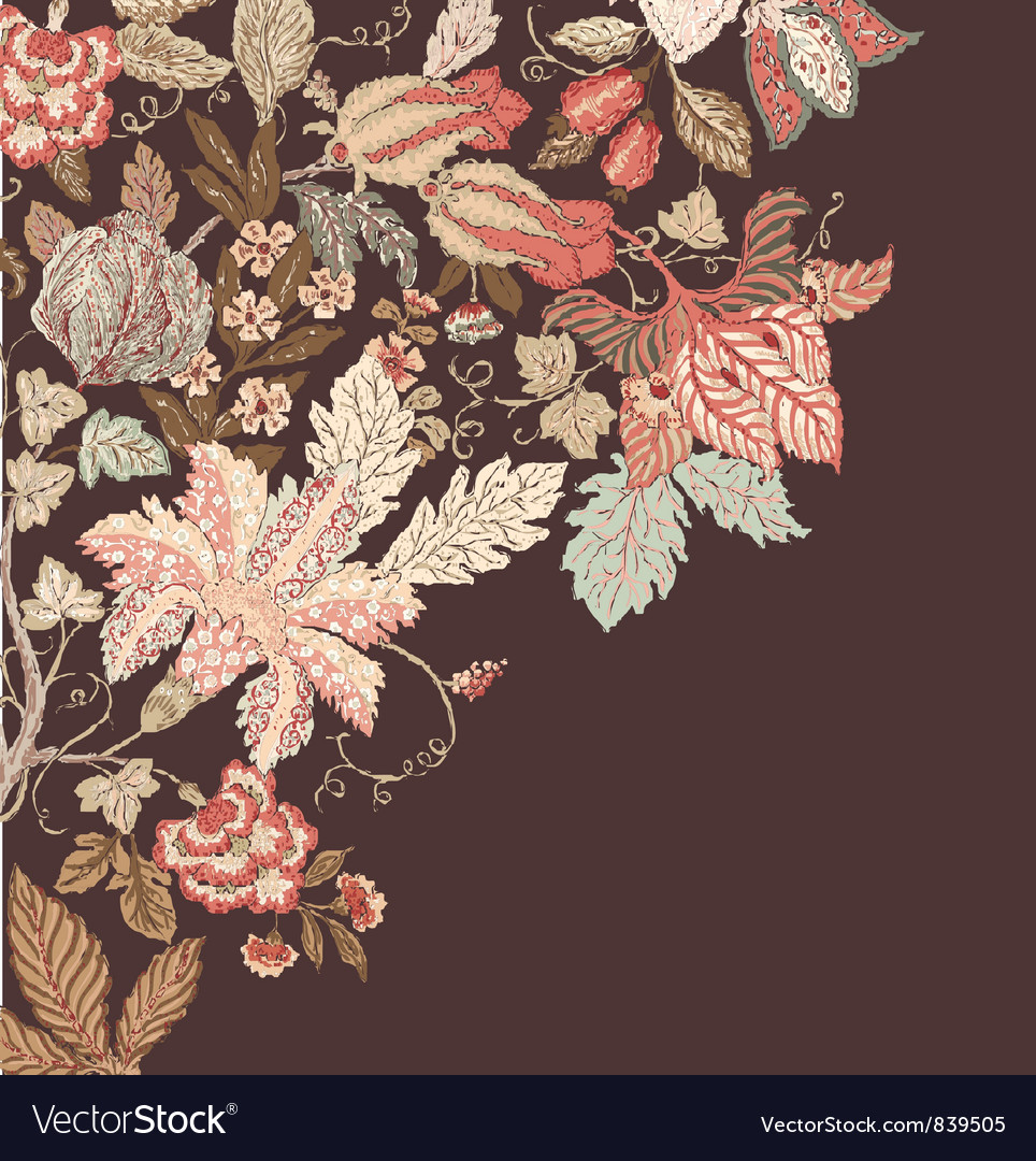 Stylish Vintage Floral Background
