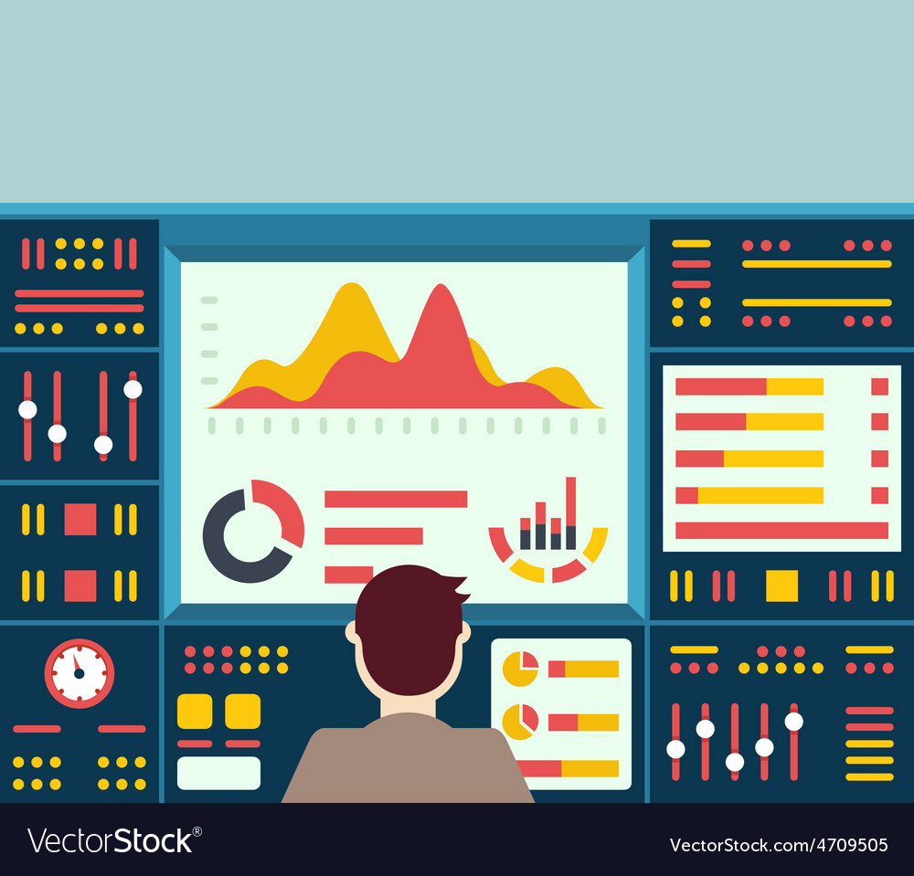 Web analytics information on dashboard an