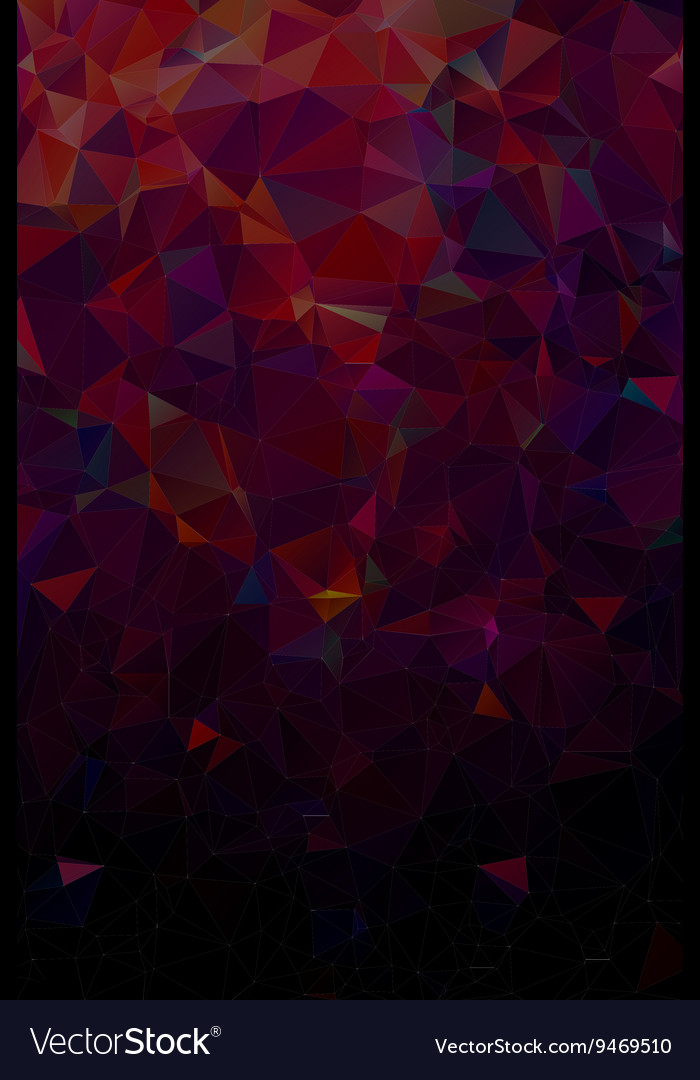 Abstract polygonal dark geometric background Low vector image
