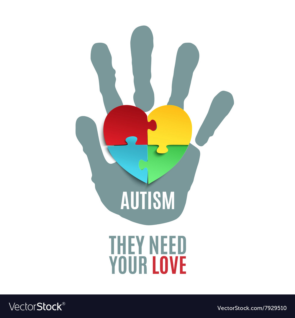Autism awareness poster template Royalty Free Vector Image