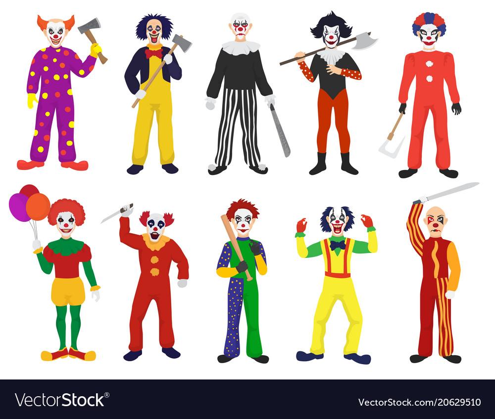Clown clownish character clowning on