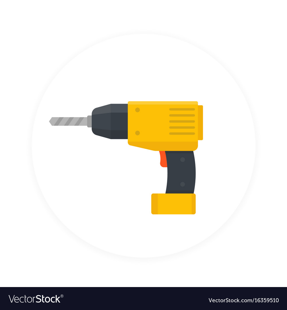 Electric screwdriver icon flat style