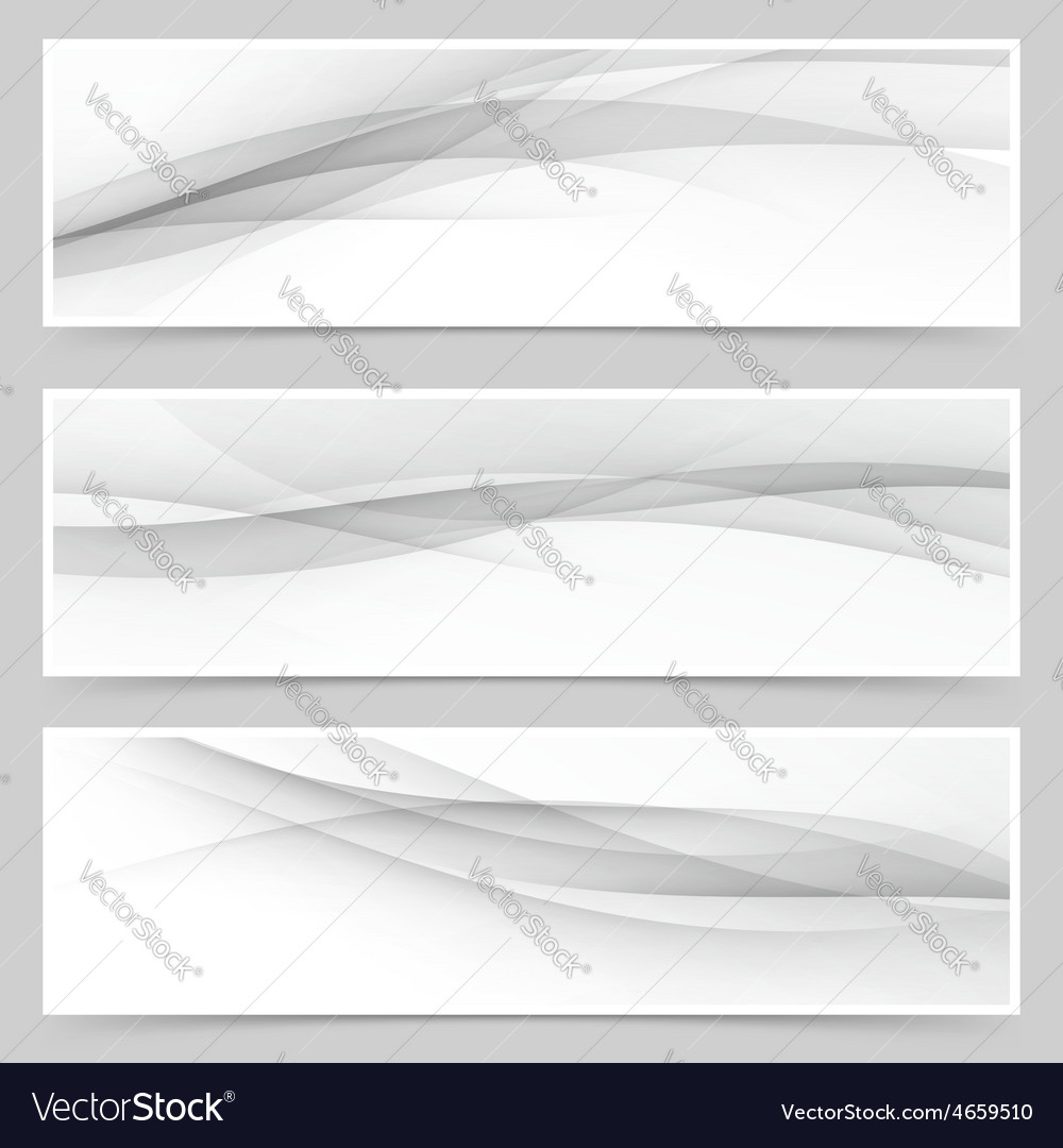 Grey soft line web header collection vector image
