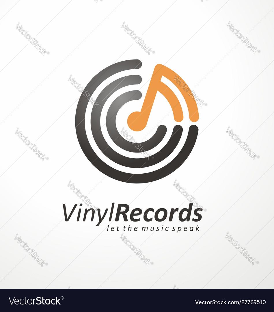 Logo design idea for music store or vinyl records