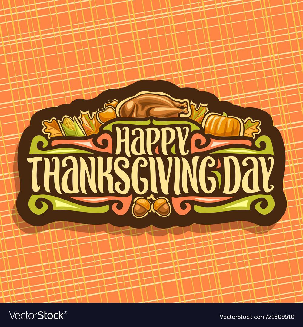 Logo for thanksgiving day