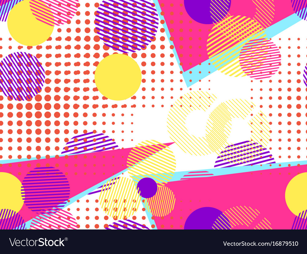 Memphis seamless pattern pop art dotted vector image