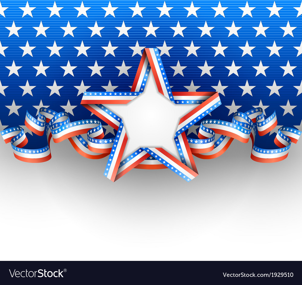 Patriotic background with star