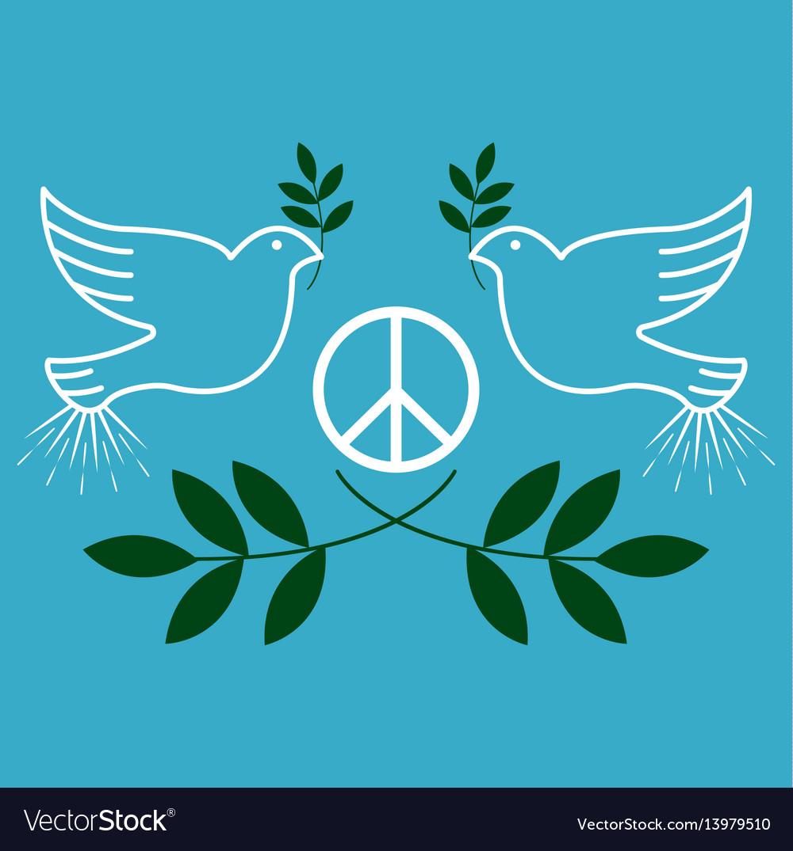 Peace vintage and retro typographic design vector image