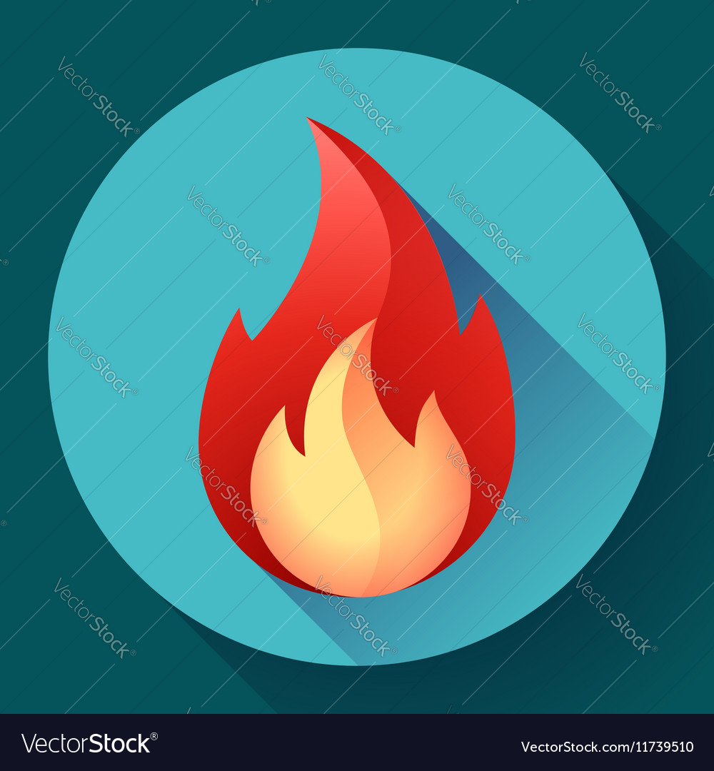 Red fire flame icon