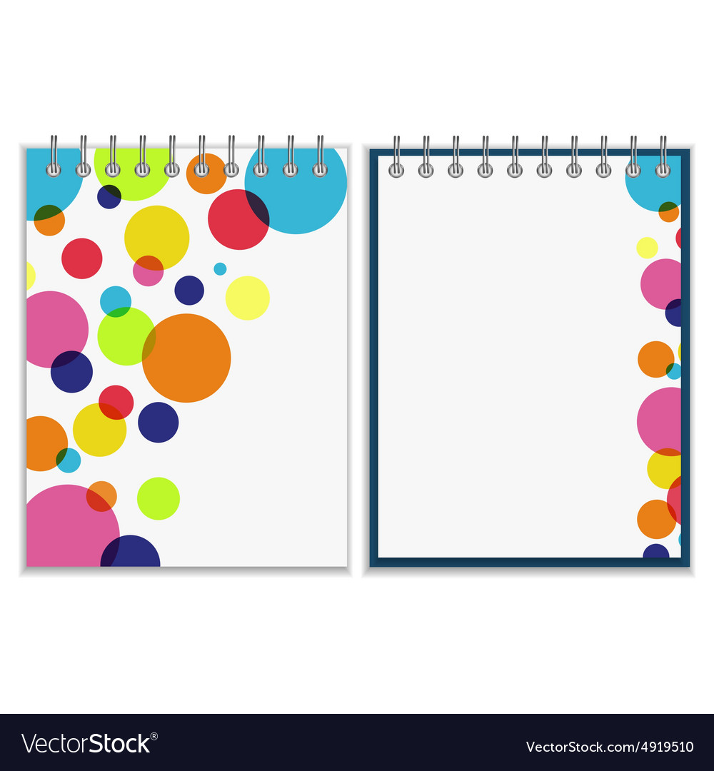 Spiral Notebook With Bright Colorful Cover Design