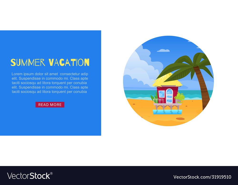 Summer vacation holiday design