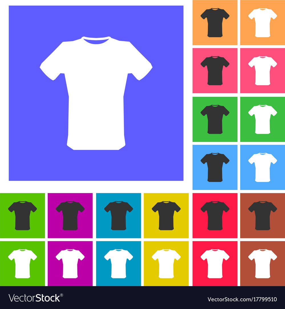 T-shirt sign icon clothes symbol rounded squares vector image