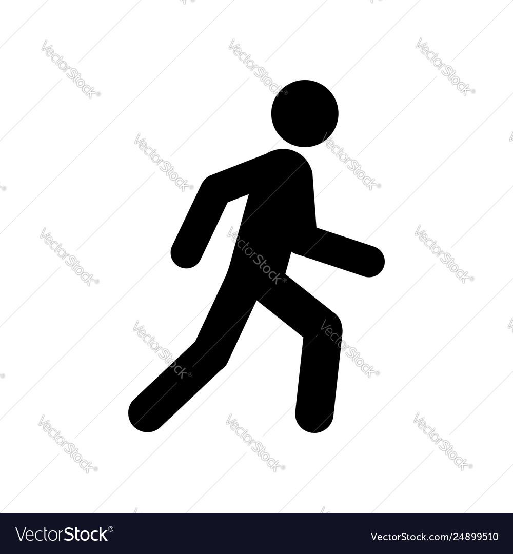 Walking man symbol pedestrian icon