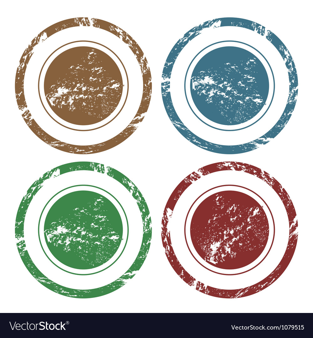 Blank grunge stamps vector image
