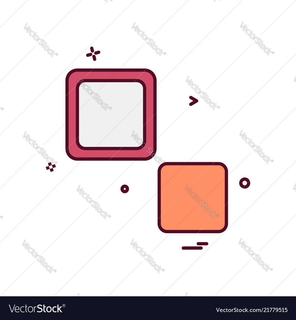 Blocks icon design