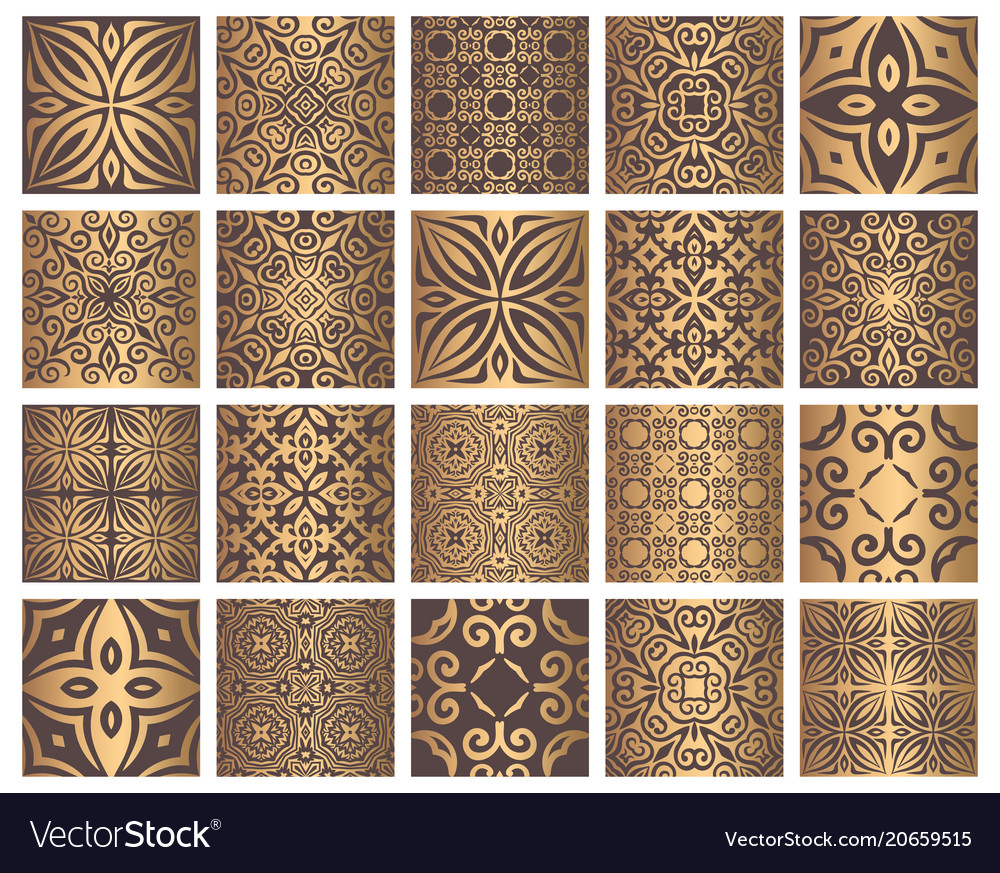 Golden tiles collection
