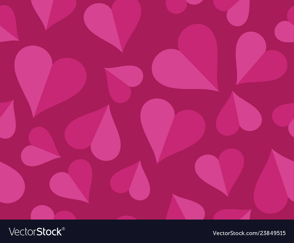 Hearts seamless pattern happy valentines day 14th