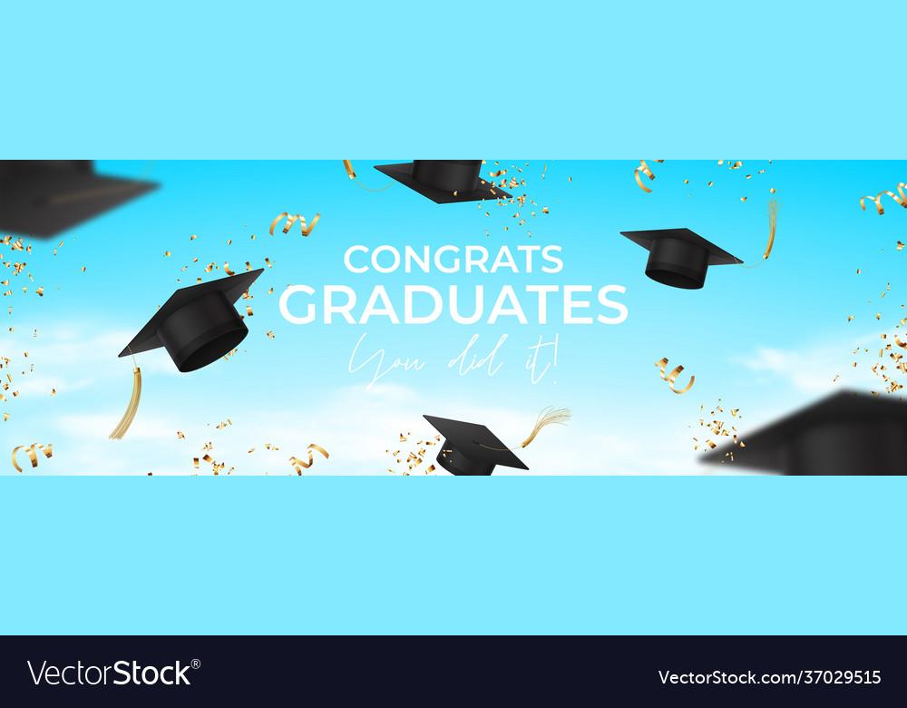 Horizontal banner for design graduation