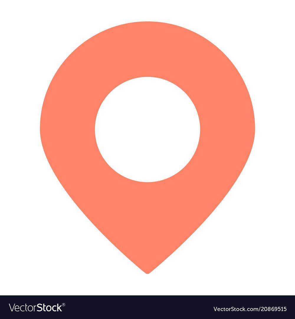 Location pointer icon simple minimal pictogram