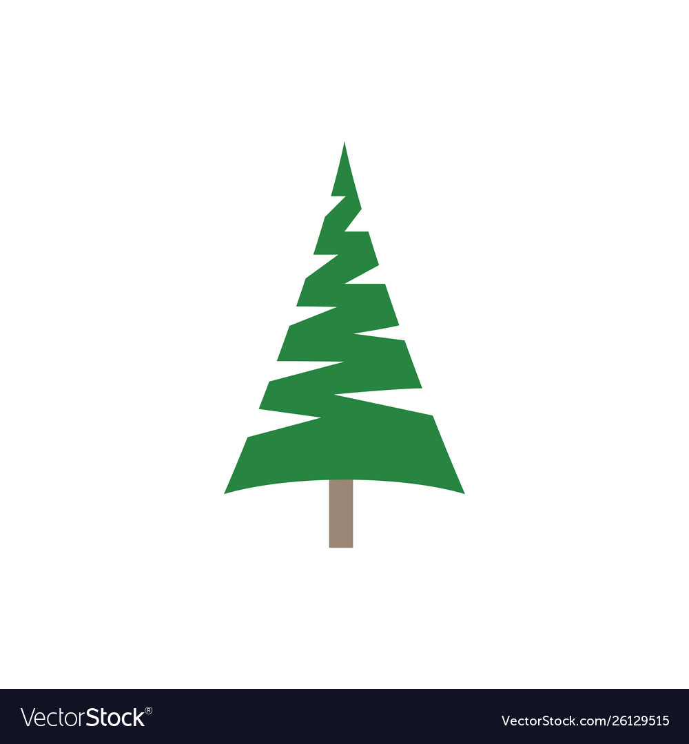 Pine tree clip art graphic design template