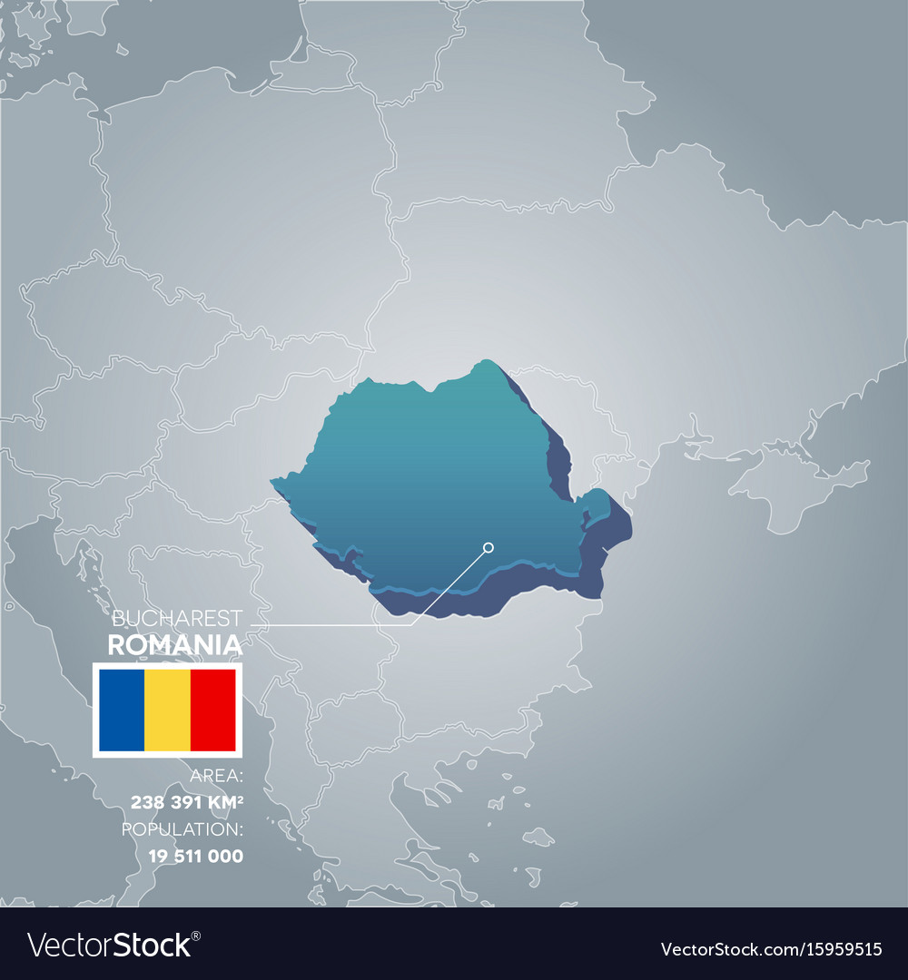 Romania information map vector image