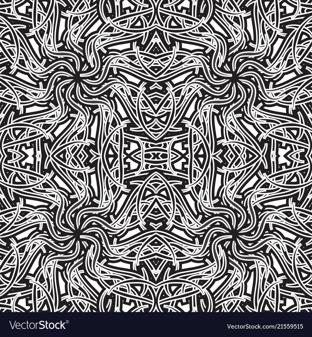 Seamless pattern abstract black and white pattern