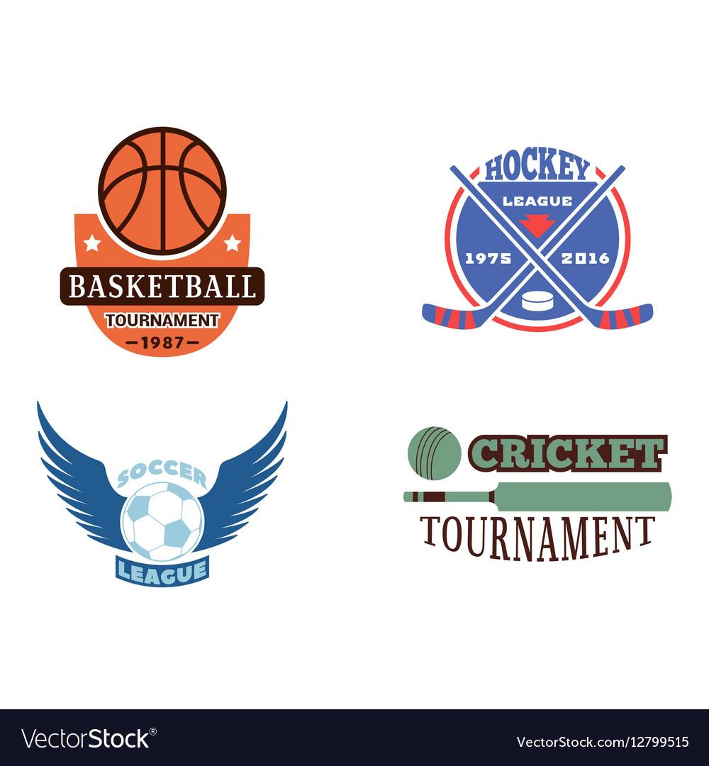 Sport team badge set