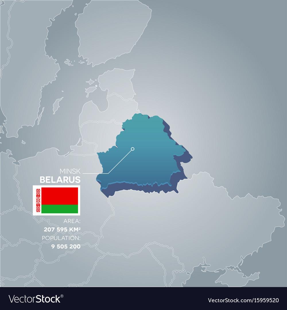Belarus information map vector image