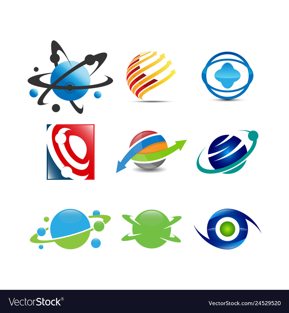 Collection of planet logo