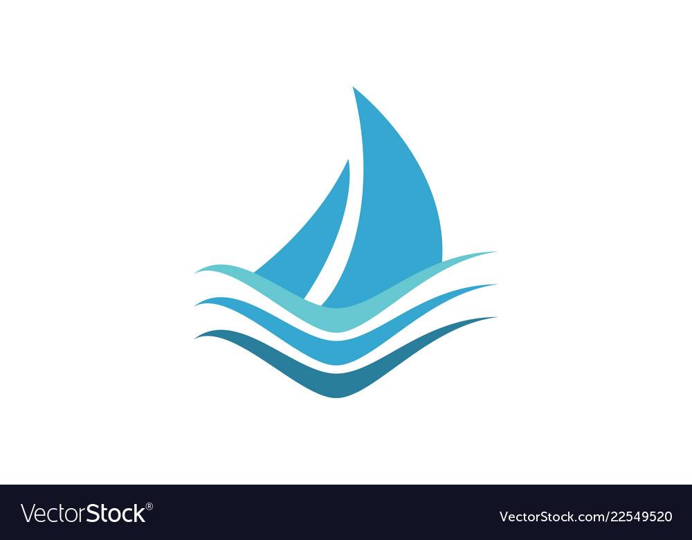 Cruise boat ship maritime logo designs