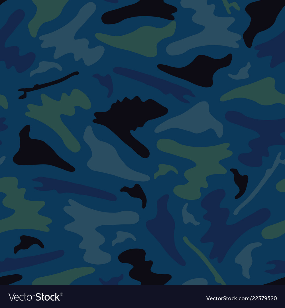 Outdoor camouflage shapes seamless pattern