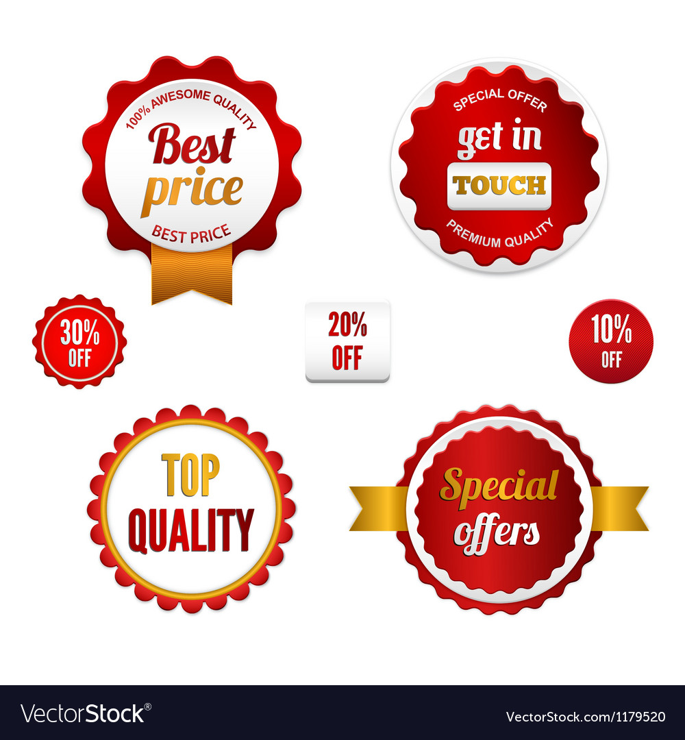 Set of sale badges labels and stickers