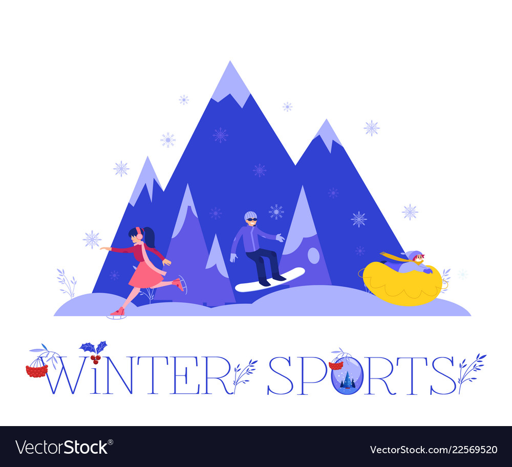 Winter sports with people