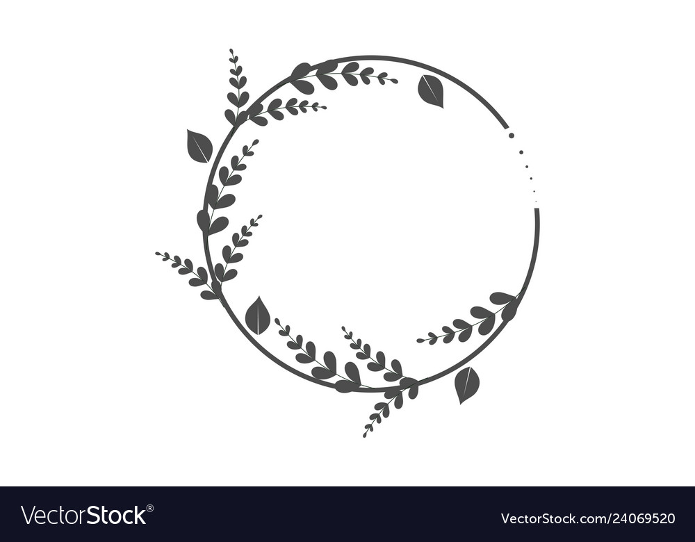 Wreaths for design logo template