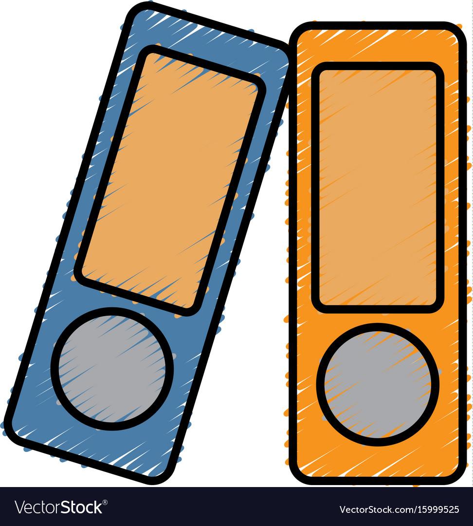 Document folders icon vector image