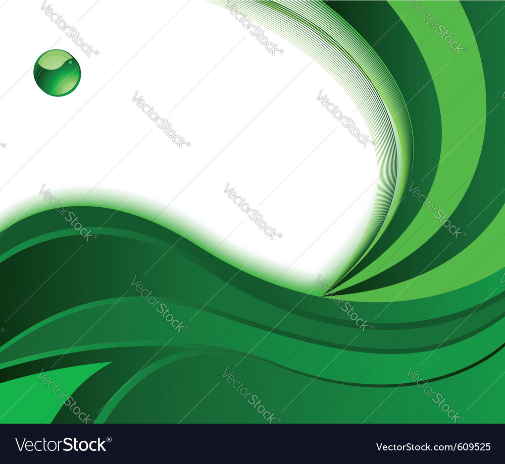 Green background with wave vector image