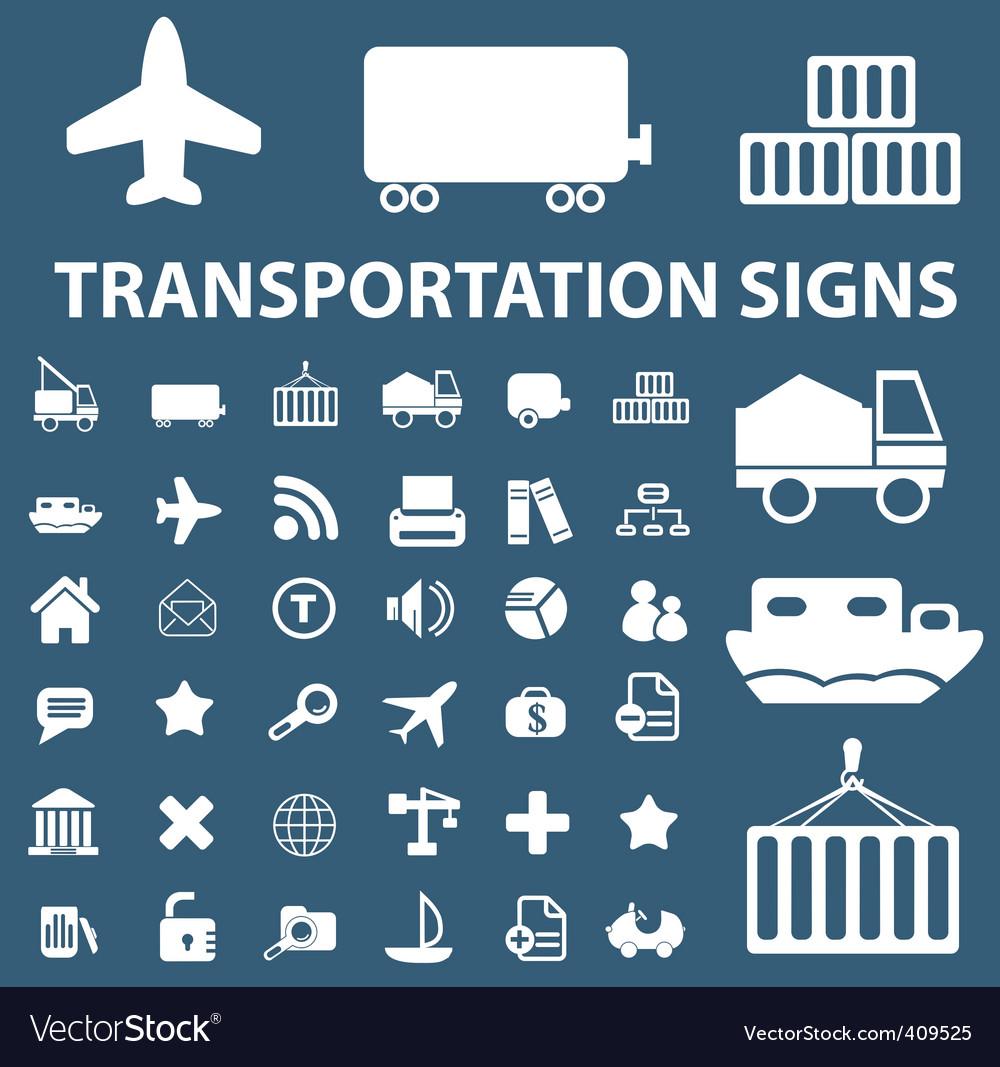 Logistics shipping signs