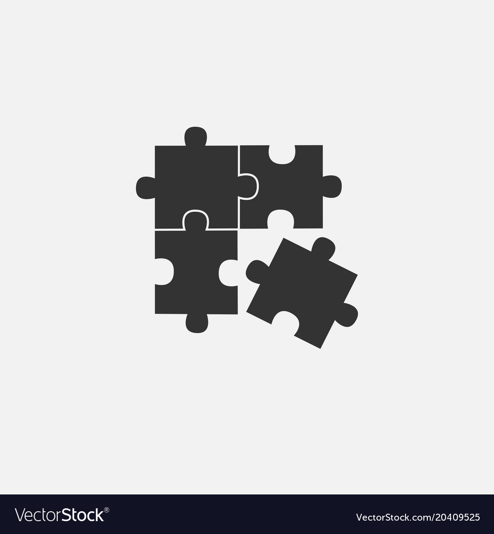 Object of puzzle web line isolated icon