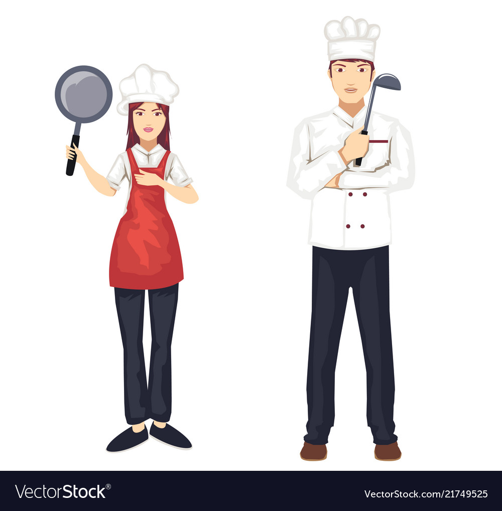 Set of chef character