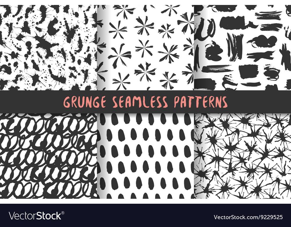 Set of six stylish patterns vector image
