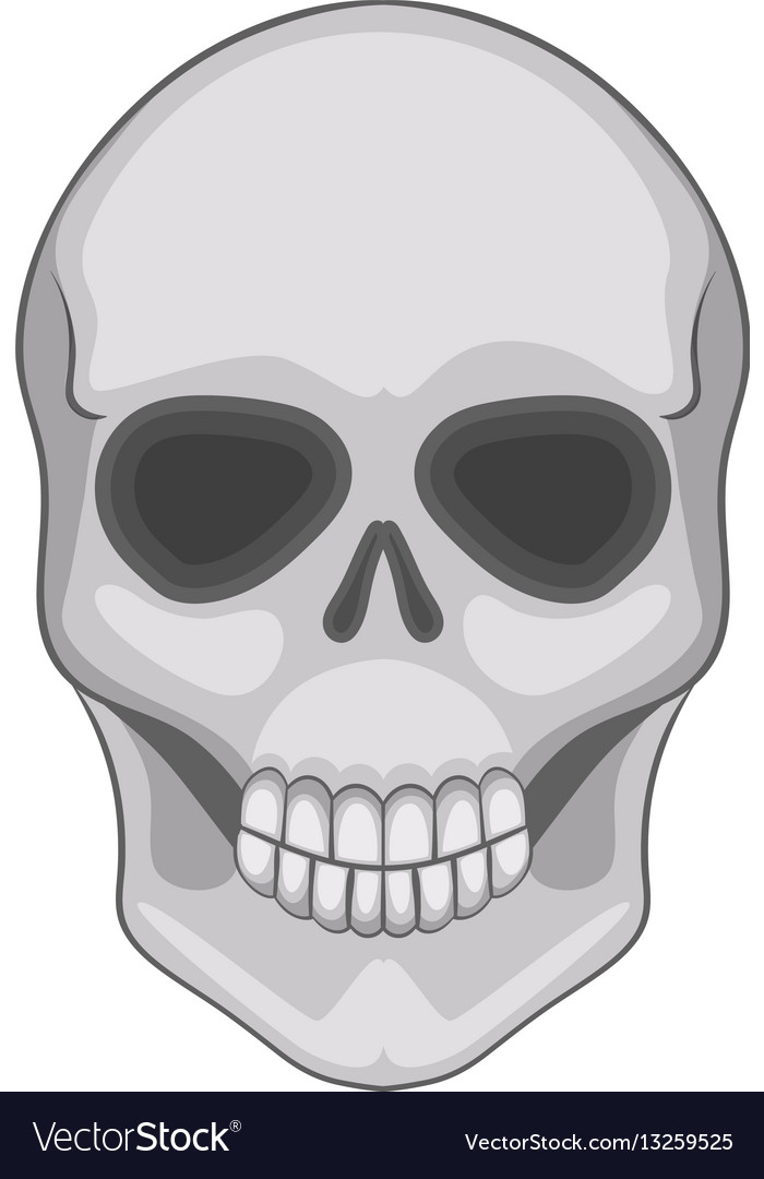 Skull icon cartoon style