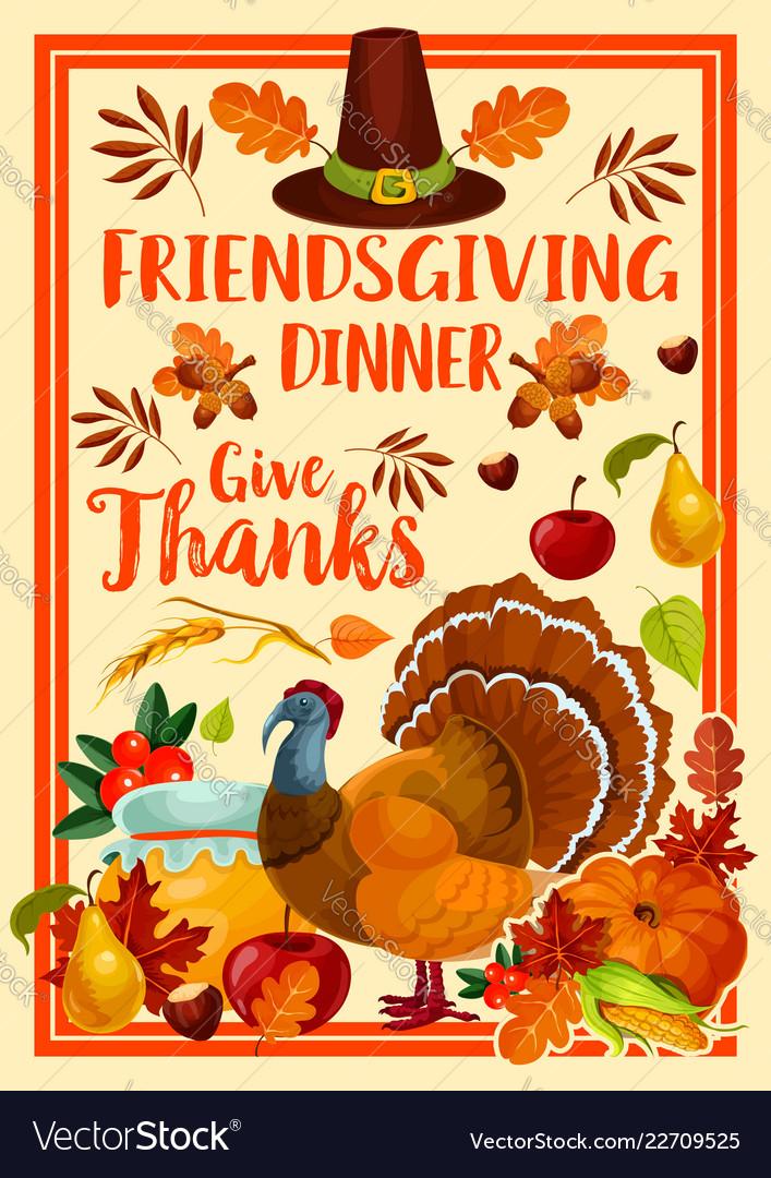 Thanksgiving holiday friendsgiving potluck turkey