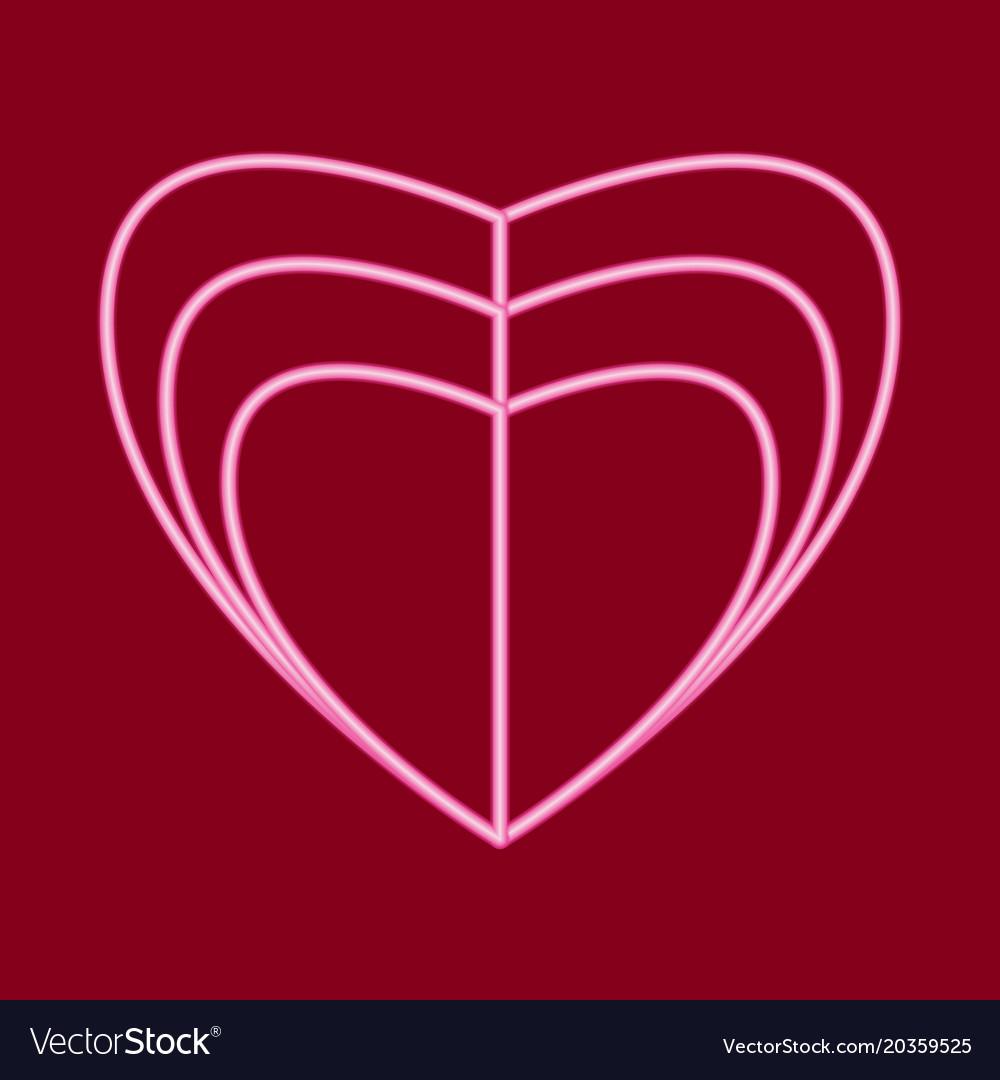 Three hearts divided vertically