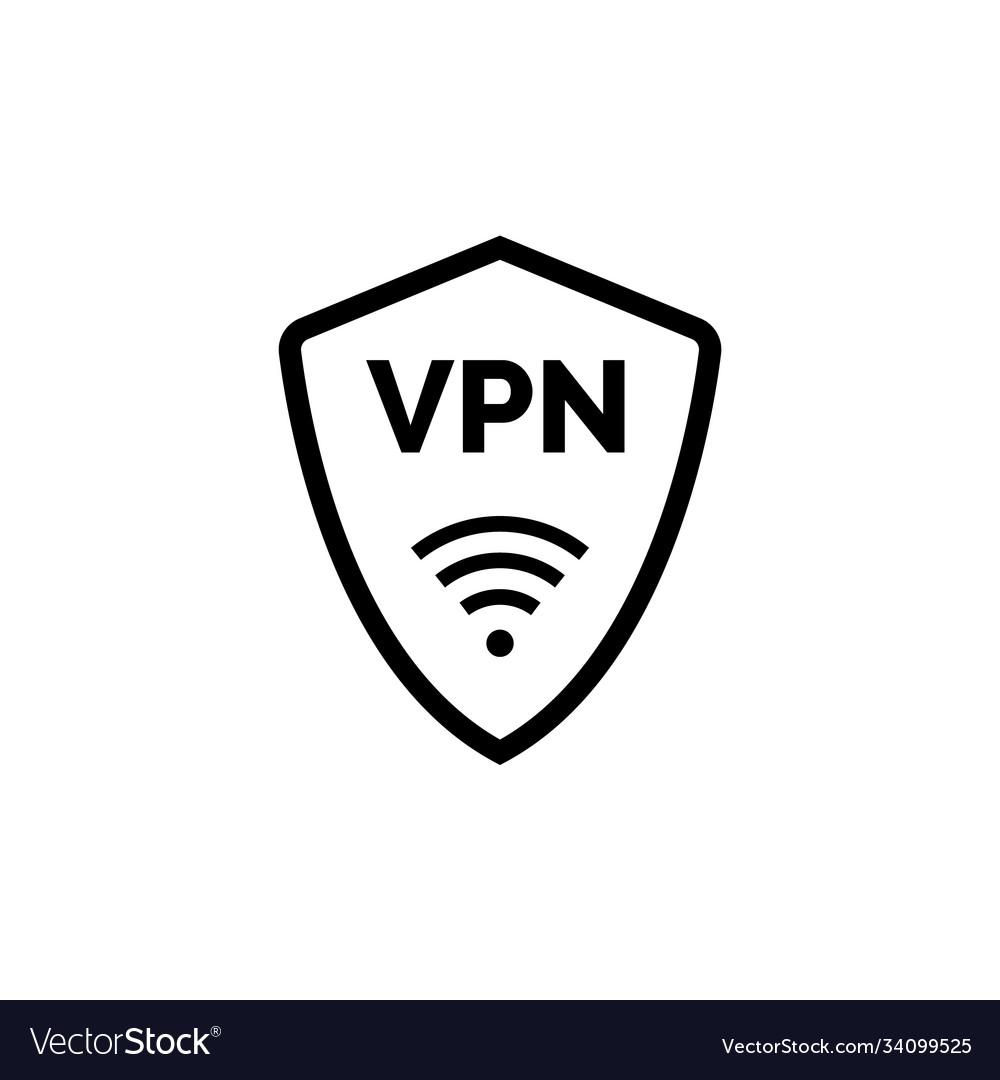 Virtual server vpn network line icon wifi private